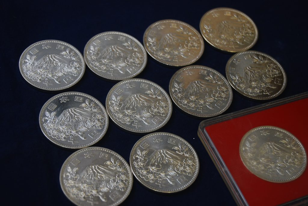 東京オリンピック 1000円銀貨